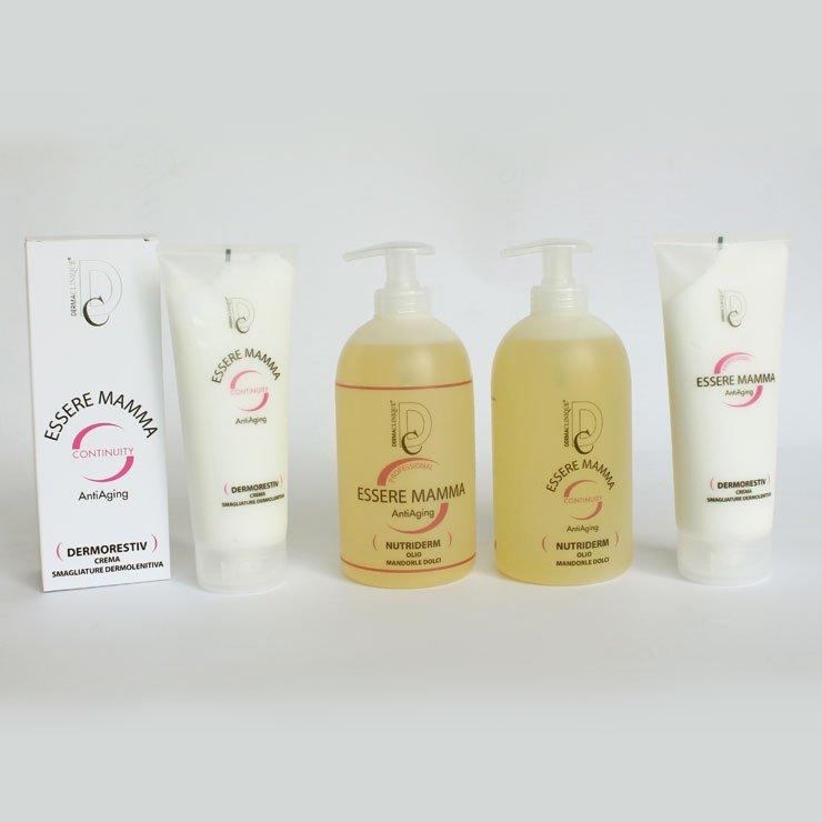 Una linea specifica progettata per nutrire, elasticizzare la pelle e prevenire la formulazione di smagliature durante e dopo la gravidanza